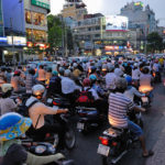 Motorbike traffic stacks Ho Chi Minh City. A new BRT line could alleviate congestion in Vietnam's largest city. Photo by Padmanaba01.