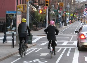 New York City's bike lanes bring mobility, economic vitality. Photo by Michael Gradinger