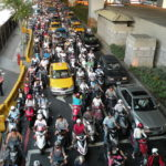 Taipei, Taiwan had 13.4 million registered motorcycles in 2010.