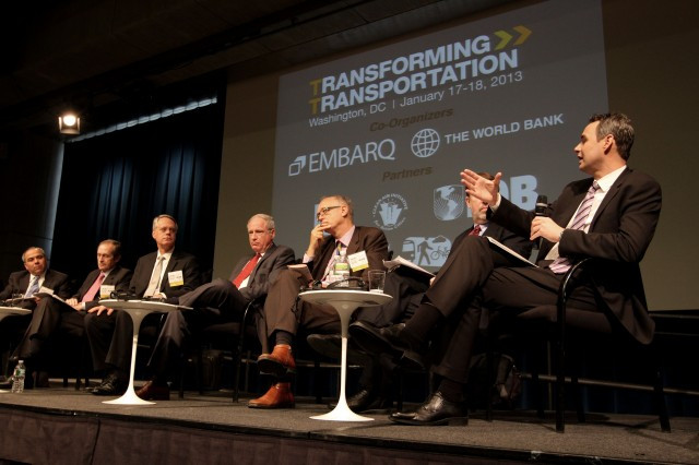 Transforming Transportation 2013 hosted policymakers and transport experts. Photo by Aaron Minnick/EMBARQ.