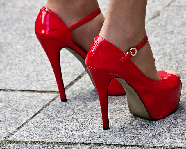 Red high heels. Photo by informatique.