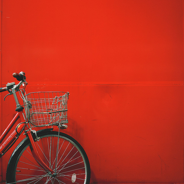 Red bike. Photo by +fatman+.