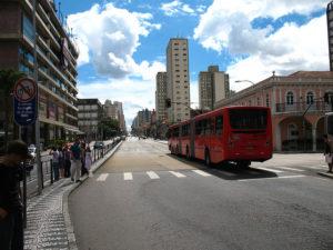 Curitiba, Brazil: advancing a tradition of leadership in advanced bus systems. Photo by Robert Blackie.