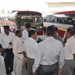 Drivers from state-run bus company in Kerala, India