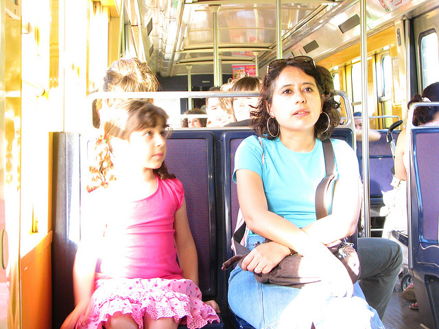 Women making strides on public transport. By ¡Carlitos.