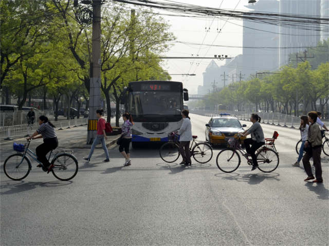 "The authors of Low Carbon Land Transport – Policy Handbook ask, ""Which transport vision will cities like Beijing, China [pictured here], choose for their future?"" Photo by Daniel Bongardt."