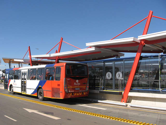 Nasrec Station, near the Soccer City Stadium in Johannesburg, South Africa. Photo by Aileen Carrigan - EMBARQ.