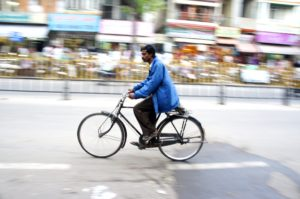 Mysore is keen on developing a cycling culture in the city. Photo: Joseph Swaine