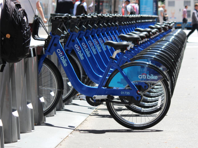 City Bikes In Nyc in New York City on Monday