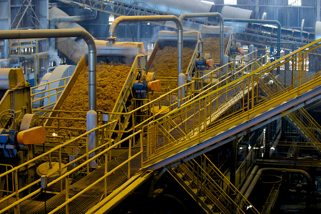 An ethanol production plant in Brazil. Photo by . Shell.