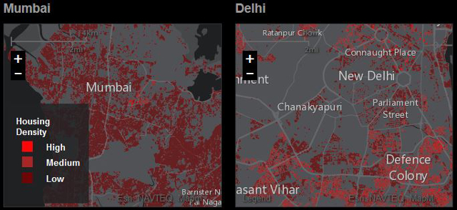 Urban Observatory allows you to make side-by-side comparisons of urban data. Photo by Urban Observatory.