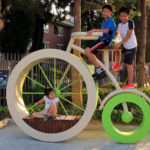 Children enjoy the festivities of the EcoMobility World Festival in Suwon, South Korea. Photo by Carlos Felipe Pardo.