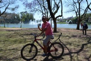 Raul cycles in park