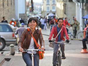 Better bicycle infrastructure is a sign of sustainability efforts in developing countries. Photo by Carlos Felipe Pardo.