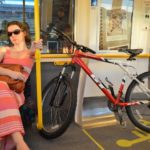 "One of the target audiences for Transperth's ""Two Hoots"" campaign are bikers who use public transport. Photo by Sally."