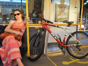 """One of the target audiences for Transperth's """"Two Hoots"""" campaign are bikers who use public transport. Photo by Sally."""