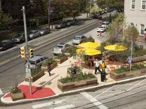 The National Association of City Transportation Officials' Urban Street Design Guide marks a big step forward in advancing a people-oriented approach to transport policies. Photo by University City District.