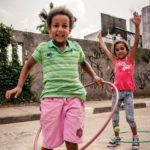 Two Brazilian children at play juxtapose recent findings that Brazilian children are the least active in Latin America. A new partnership between Nike, Inc. and nine Brazilian organizations will work to counter this trend, yet sustainable urban transport and planning can also play an important role in increasing physical activity. Photo courtesy of Designed To Move Full Report (in Portuguese).
