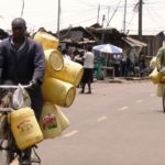 Cycling water vendors Nairobi, Kenya. Photo by Victoria Hickman/Engineering at Cambridge.