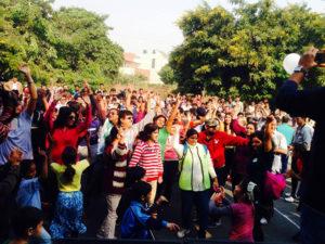 Raahgiri Day in Gurgaon, India
