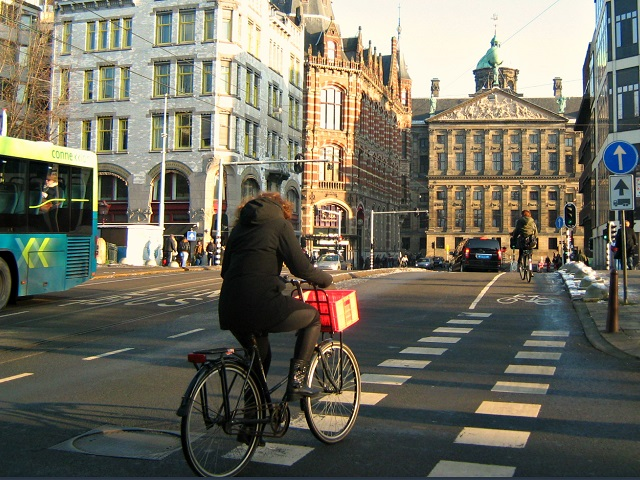 Biker in Amsterdam, the Netherlands. Photo by Multerland/Flickr.