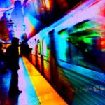 Tommy Vohs is a locomotive engineer and photographer whose iPhoneography captures the spirit of integrated transport through creative double exposures. Photo by Tommy Vohs/Flickr. All Rights Reserved.