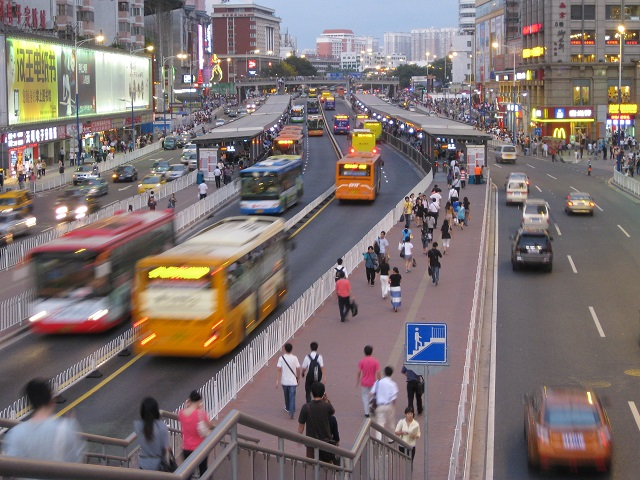 Gangding Station in Guangzhou, China. Photo by Benjamin/Flickr. Cropped.