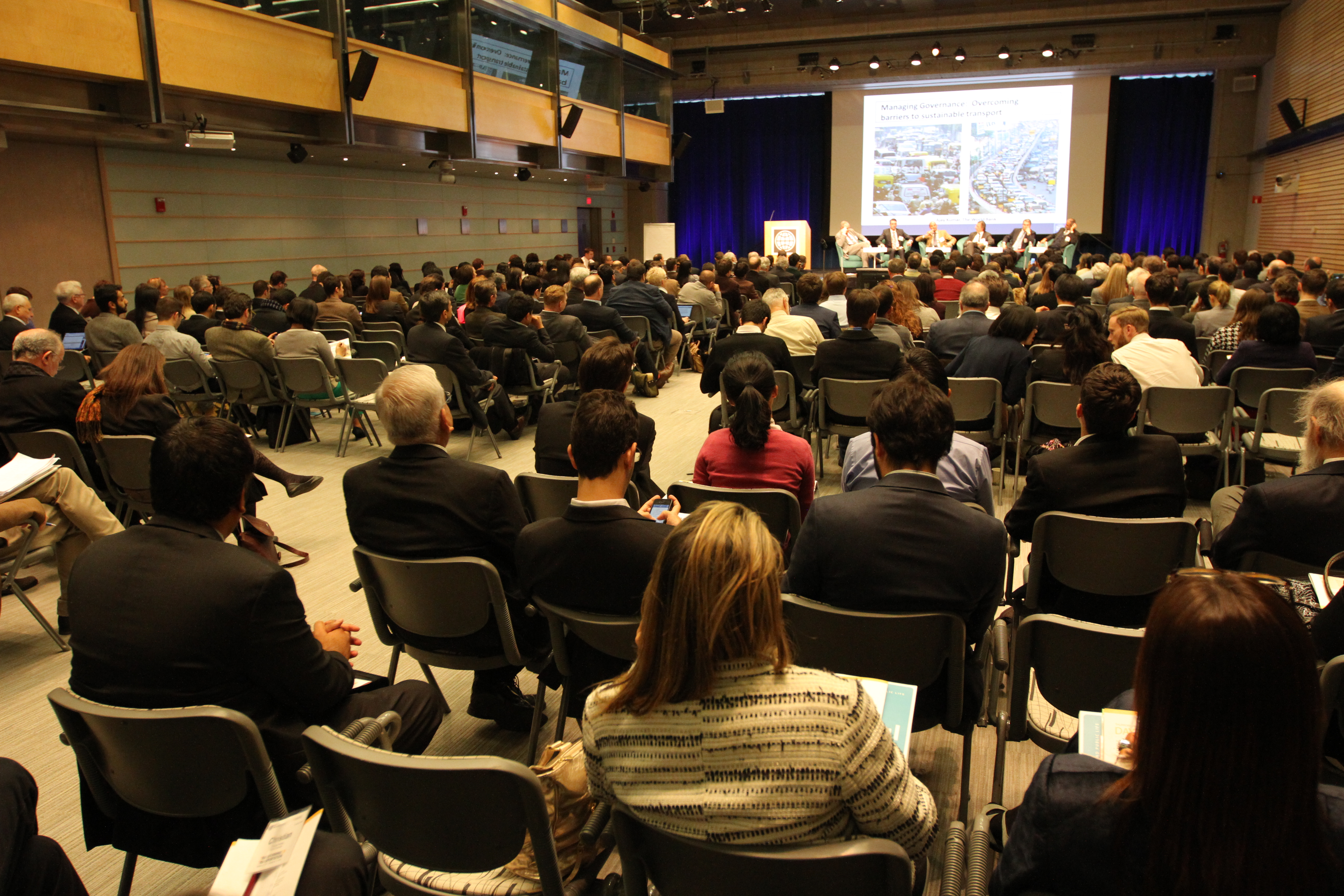 "Preston Auditorium during ""Managing Governance"" plenary. Photo by Aaron Minnick/EMBARQ."