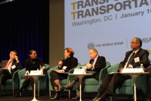 Road safety panelists at Transforming Transportation 2014. Photo by Aaron Minnick/EMBARQ.