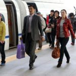 Passengers disembark from a train in Tianjin, China. A new global campaign is seeking to better integrate sustainable mobility solutions like mass transport into policy discussions on development and climate change. Photo by Yang Aijun/WorldBank/Flickr. Cropped.