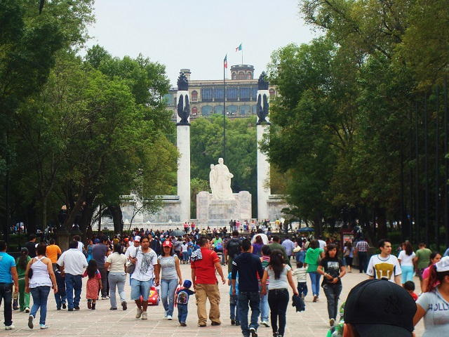 Mexico City's Chapultepec Park attracts both residents and tourists to its pedestrian-friendly thoroughfares. Photo by Austin TX/Flickr.