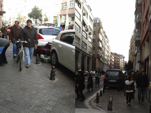 Pedestrians walk along the streets of Kadikoy, Istanbul. Photo by Dario Hidalgo/EMBARQ.