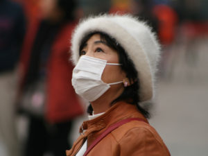 Average particulate matter readings in the Beijing area hit 473 milligrams per cubic meter last month, 19 times the level deemed healthy by the World Health Organization. Photo by Niccoló Mazzati/Flickr.