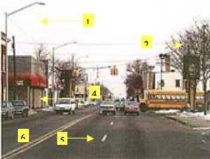 Road safety audit: before. Image courtesy of AAA Michigan.