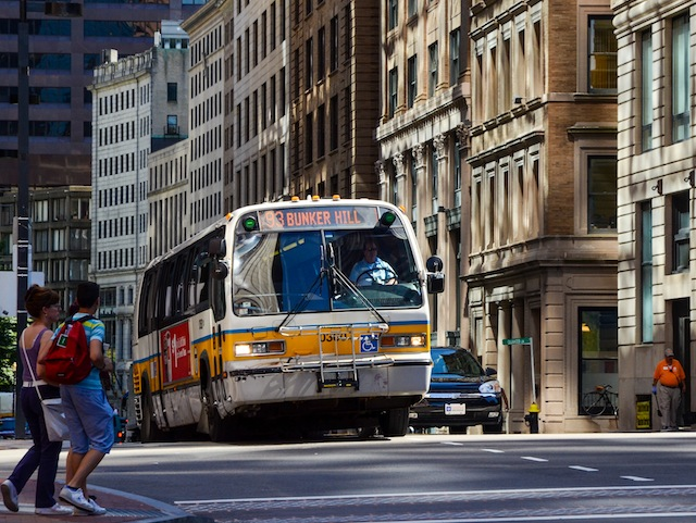 New fuel efficiency and greenhouse gas (GHG) emissions standards for heavy-duty vehicles like buses are important in moving towards a smaller carbon footprint. Photo by Zolk/Flickr.