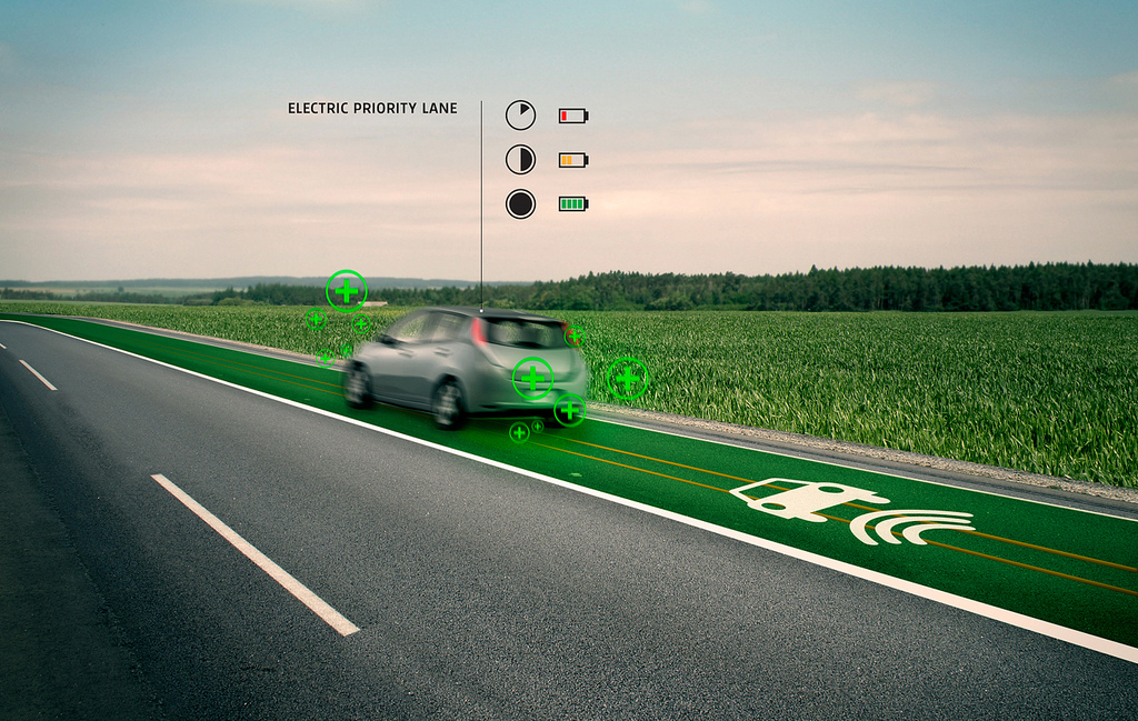 Studio Roosegarde has ambitious plans to develop roadways for electric vehicles that can charge them while they are driving. Photo by Studio Roosegarde/Flickr.
