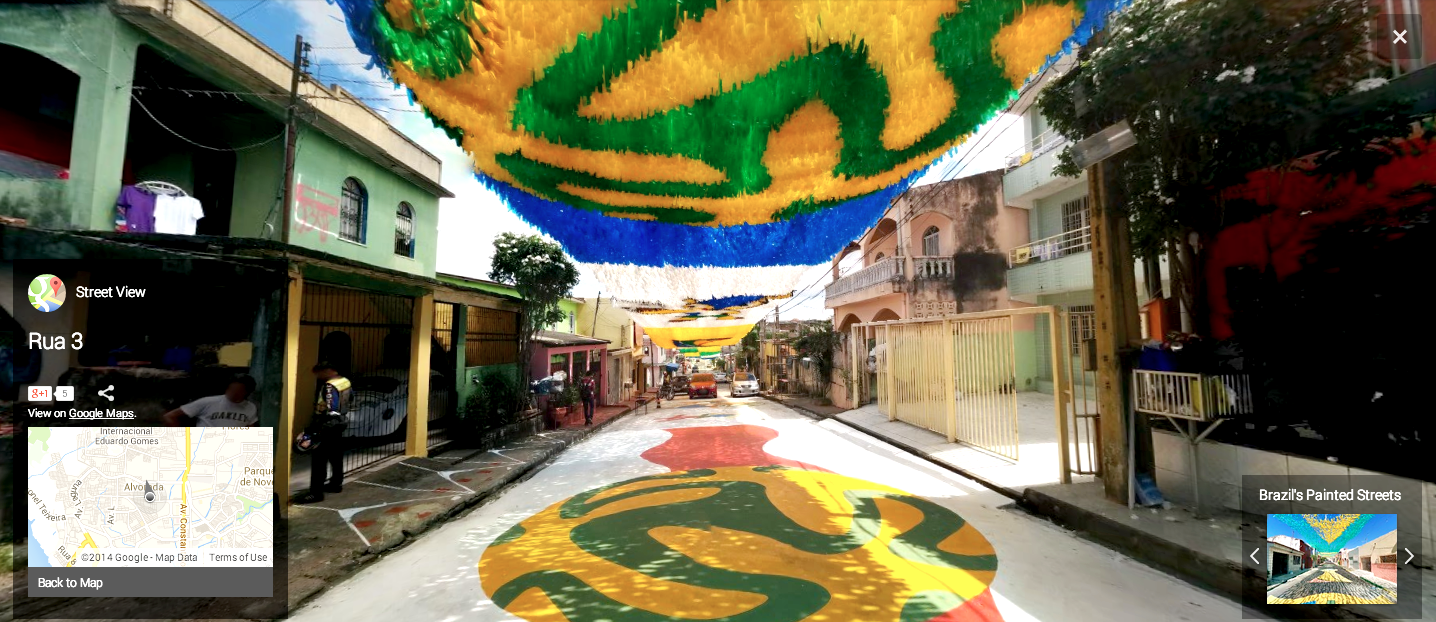Rua 3, Manáus, Brazil. Image courtesy of Google Street View.