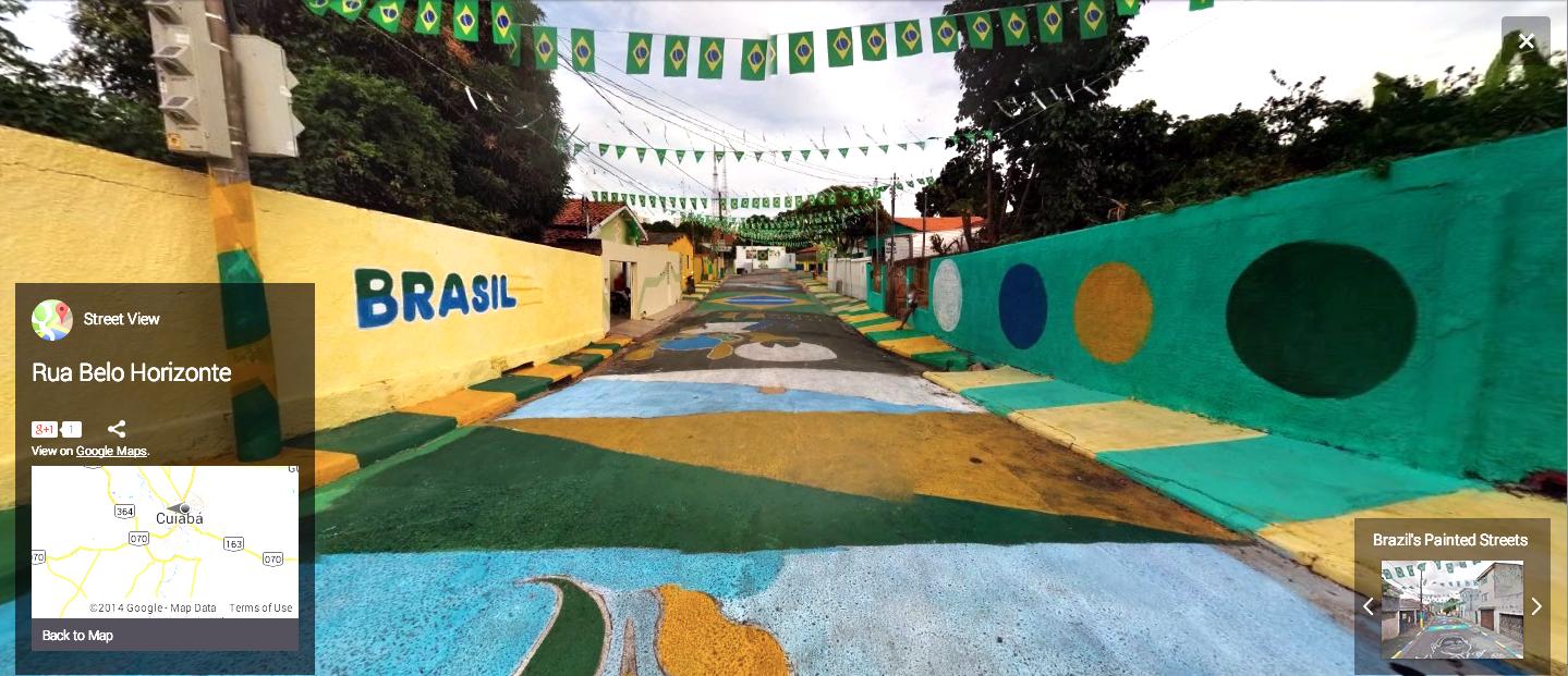 Rua Belo Horizonte, Cuiabá, Brazil. Image courtesy of Google Street View.