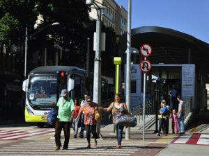 Bus rapid transit (BRT) is expanding worldwide, particularly in Asia and Latin America. Watch it grow on BRTdata.org. Photo by EMBARQ Brasil.