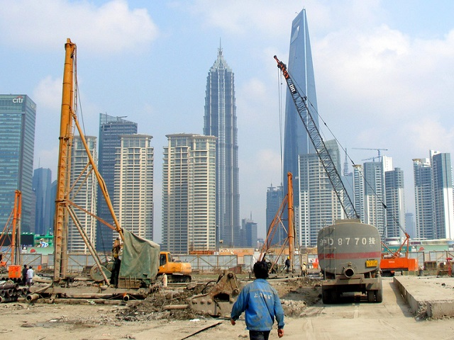 Shanghai's skyline is a symbol to all entrepreneurs of the potential new information technologies, shared service models, and good ideas have to make positive change to cities' development. Photo by The Q Speaks/Flickr.