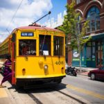 Streetcars are one of multiple public transport options for cities to consider when investing in sustainable urban mobility. Photo by Sean Davis/Flickr.