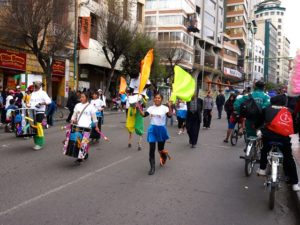 In photos: Bolivia's day of the pedestrian and cyclist
