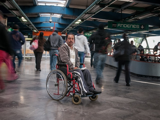 Citizens and planners should respect the mobility of handicapped persons by ensuring that infrastructure is accessible to all. Photo by Eneas De Troya/Flickr.