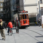 Istanbul's world class BRT, pedestrianized spaces, and strong demand for improved cycling infrastructure highlight the rise of sustainable transport in the city. Photo by Monique Stuut/Flickr.