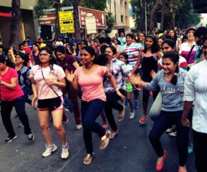 The level of excitement at Reebok's Zumba stage is palpable every Sunday. Photo by Sachi Aggarwal/EMBARQ India.