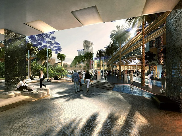 This rendering from Masdar City shows one version of an ideal city of the future. What does your city look like? Photo by Forgemind Archimedia/Flickr.