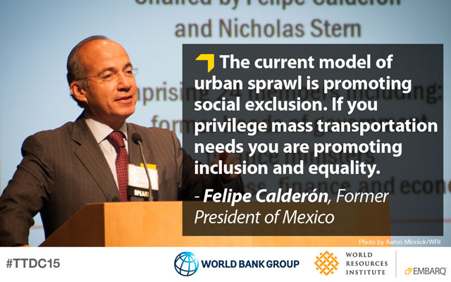 Felipe Calderon on urban sprawl and social exclusion