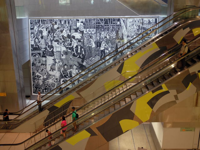 Esplanade MRT station in Singapore