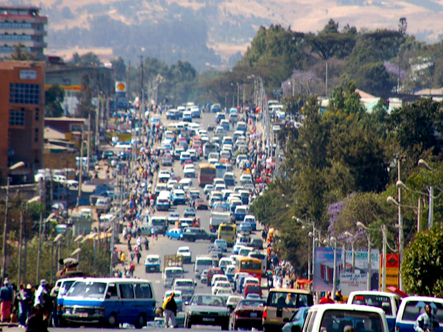 Addis Ababa Ethiopia  City new picture : Addis Ababa, Ethiopia's crowded downtown streets are soon to get ...