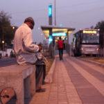 Bus rapid transit (BRT) stations should be easily accessible and safe for pedestrians. Photo by Meena Kadri/Flickr.